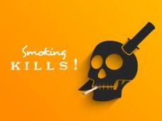 无烟日广告背景模板下载
