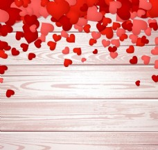 情人节心形元素矢量图