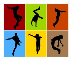 舞蹈人物素材剪影