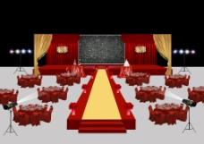 红色婚礼舞台