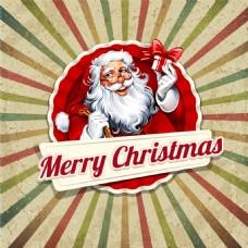 拿禮物的圣誕老人圖片