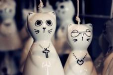 可爱陶瓷小猫图片