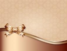 金色蝴蝶结背景图片