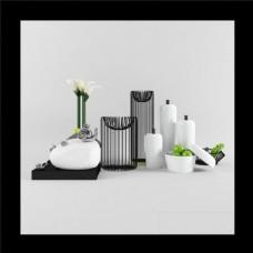 室内3D陈列品模型