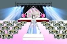 粉色田园主题婚礼