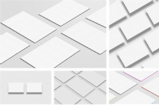 空白名片设计素材