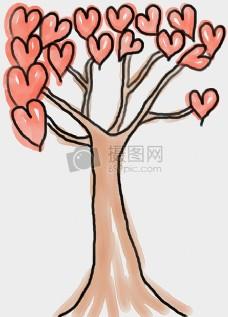 长满爱心的树