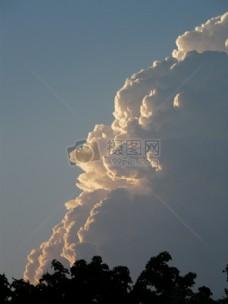 蓝天中的白云