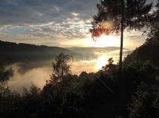 夕阳下的多瑙河