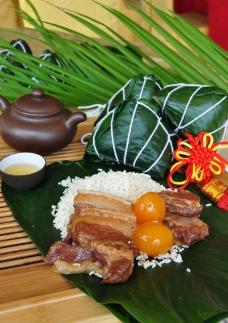 高清腊肉粽子图片