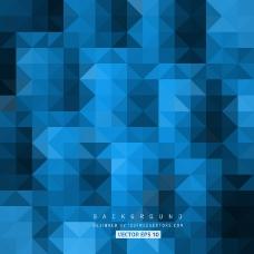 深蓝色抽象三角形背景图案