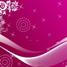 粉色背景矢量图案海报图