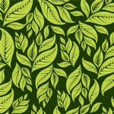 深绿色的花的背景图案