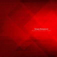 多边形的红色背景
