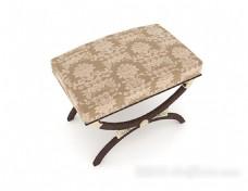 中式花纹凳子3d模型下载