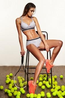运动网球美女