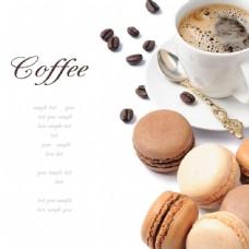 咖啡与蛋糕背景图片