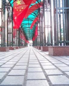 喜庆国庆节红旗图片