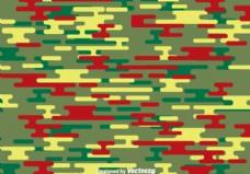 绿色和红色伪装图案