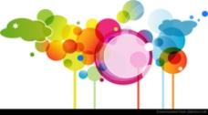抽象彩色矢量插图艺术
