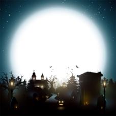 月亮城堡树林背景图片1