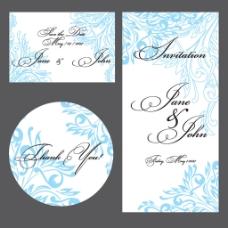 简洁时尚婚礼贺卡设计矢量素材