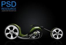 流線型顯示摩托車