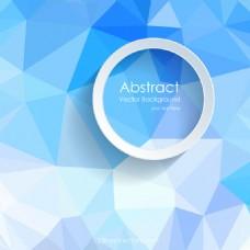 浅蓝色多边形抽象背景