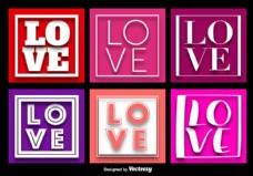 爱字背景向量