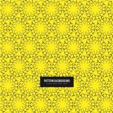 弗洛勒尔图案黄色图案