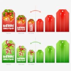 红绿色圣诞卡片图片