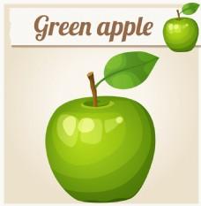 绿色的苹果图片