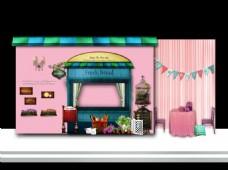 粉色韩式小清新 甜品 合影区
