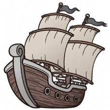 卡通帆船漫画