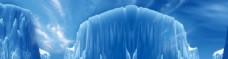 蓝色冰川海报背景