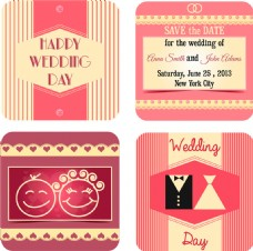 婚礼请柬模板图片