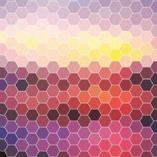 多边形的彩色背景