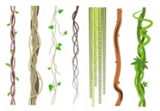免费的藤本植物载体