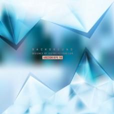 浅蓝色三角多边形背景设计