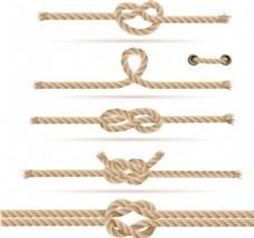 打结的绳子