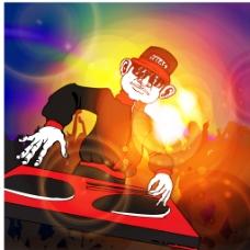 DJ海报背景