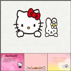 kitty猫hello kitty幻灯片模板下载