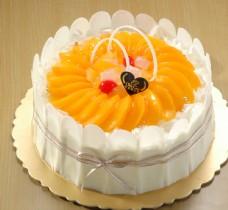 黄桃生日蛋糕图片