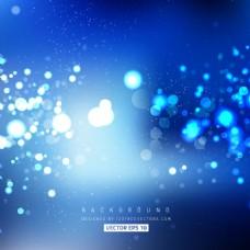 钴蓝色的背景虚化背景灯