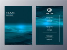 蓝色梦幻宣传单背景图片