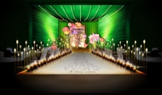 洛卡婚礼绿色系舞台设计