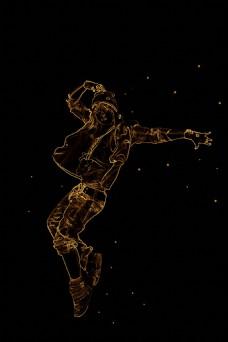 人物素材处理成夜光轮廓