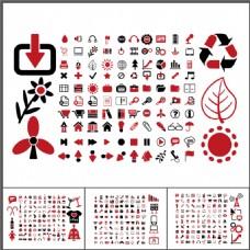 红黑办公生活类ppt小图标素材