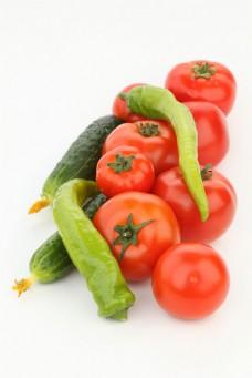 西红柿和南瓜青椒图片