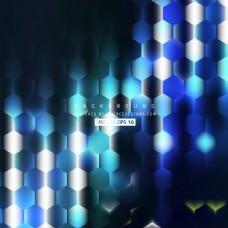 抽象蓝色黑六角背景模板